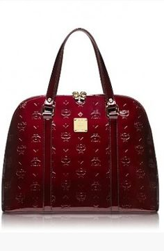 Hermes Port Wine Patent Leather Handbag