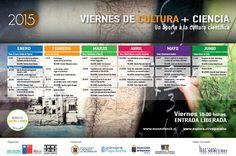 """Revisa la programación 2015 del Ciclo de charlas """"Viernes de Cultura + Ciencia"""" como es tradicional en @museofonck"""