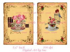 Teacup Arrangements  5 X 7    Printable by CountryAtHeart2008, $4.99
