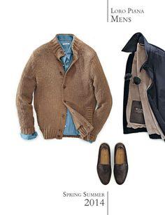ロロ・ピアーナ #LoroPiana 肌寒い日に活躍する オーガニックコットンのざっくりセーター SS2014 http://www.loropiana.com/flash.html#/lang:en/product/FAE8357/HA38