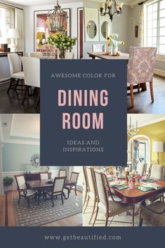 Our dining-room color motivation gallery features our most preferred color design. From contemporary to traditional, obtain influenced by these trendy dining-room paint color. #diningroom#paint#color#ideas#design#wall#table