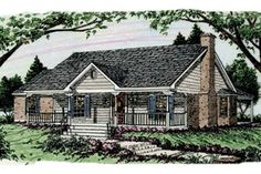 Country Exterior - Front Elevation Plan #406-148 - Houseplans.com