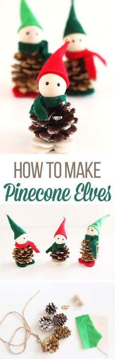 How To Make Pinecone Elves – Medi Idea