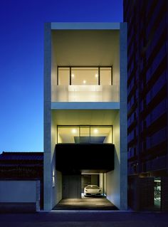 Best Ideas For Modern House Design : – Picture : – Description Works House by Matsuyama Interior Exterior, Exterior Design, Modern House Design, Home Design, Modern Townhouse, Modern Properties, Compact House, Small Space Interior Design, Narrow House
