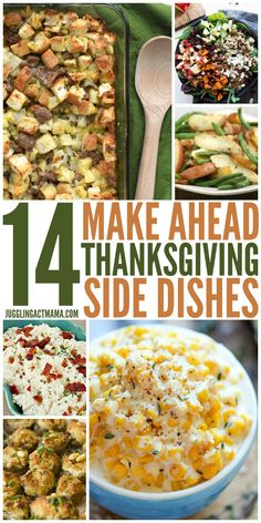 Make Ahead Thanksgiving Beilagen - Jonglier Act Mama - 14 Machen Sie Ahead Thanksgiving Beilagen Erntedankfest Sie sind - Thanksgiving Dinner Recipes, Holiday Recipes, Easy Thanksgiving Sides, Christmas Desserts, Traditional Thanksgiving Sides, Thanksgiving Casserole, Holiday Meals, Thanksgiving Cakes, Salads