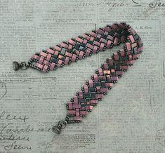 Linda's Crafty Inspirations: Bracelet of the Day - Half Tila Herringbone - Lilac