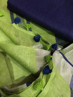 Linen saree Organic Linen by Linen sarees with zari Work and blouse piece Organic handwoven 100 count Linen saree Stitched blouse on request Elegant Fashion Wear, Women's Fashion, Indian Fashion, Fashion Weeks, Fashion History, Fasion, Trendy Fashion, Fashion Jewelry, Fashion Design