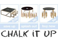 Luxe to less: chalkboard tables