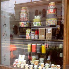 Orla Kiely Christmas window 2014