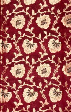Purple Fabric from Banaras with All-Over Woven Flowers, Fabrics Pure Handloom Georgette Silk Textile Prints, Floral Prints, Art Prints, Pattern Art, Pattern Design, Brewster Wallpaper, Asian Fabric, Wall Stickers Wallpaper, Designs To Draw