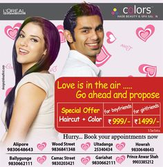 T2 Ad for Colors Loreal Salon
