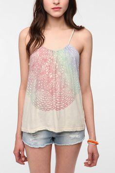 UrbanOutfitters.com > Bird Lace Print Swing Tank