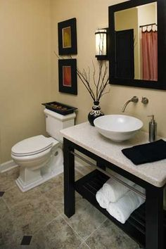 Features And Amenities For Your Small Dream Home. Separate bathrooms are nice, but they can take quite a bit of your valuable floor space. Instead, consider plans that have one full bathroom with an additional powder room or shower room. This will provide privacy without using too much space. #WeDesignDreams