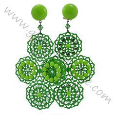 Orecchini Peris Verde chiaro (Fiori) | Glamour in Rose