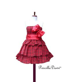 Custom in your size Tier Plaid Party Dress More by priscilladawn, $175.00
