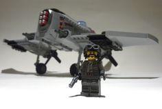 P-23 Skywolf   Flickr - Photo Sharing! Lego Mecha, Lego Bionicle, Cool Lego, Cool Toys, Steampunk Lego, Lego Plane, Lego Kits, Lego Ship, Lego Spaceship