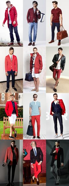 Men's Red Spring/Summer Outfit