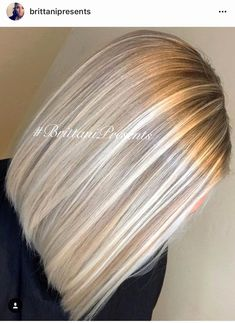 Unique Blonde Hair Trends 2019 # - All For Hair Color Balayage Blonde Balayage Highlights, Hair Color Highlights, Hair Color Balayage, Ombre Hair, Ombre Bob, Blonde Color, Thick Highlights, Baby Blonde Hair, Light Blonde Hair