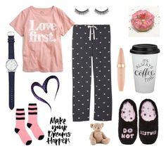 pjs by irisiks on Polyvore featuring мода, J.Crew, P.J. Salvage, Ganni, PJ Couture, Avon, Battington, Maybelline, Jellycat and plus size clothing Cotton Lingerie, Jellycat, Pjs, Maybelline, Size Clothing, Avon, Plus Size Outfits, J Crew, Couture
