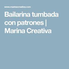 Bailarina tumbada con patrones | Marina Creativa