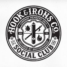 Hook & Irons Co.  T-shirt design for the fine gents at Hook & Irons Co. by Commoner, Inc.