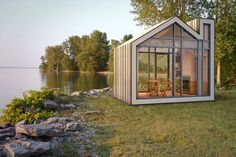 Prefab Bunkie: Cute Little House-Shaped Sleeping Cottage