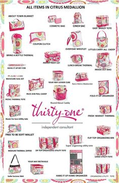 Check out the new 2014 Spring - Summer Thirty One collection. Www.mythirtyone.com/mistydyson