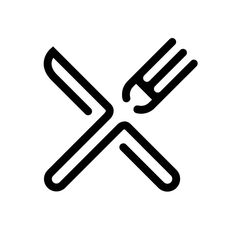 Pictogram. dit is de pictogram voor een restaurant, die is in ieder lang (ongeveer) hetzelfde zodat iedereen weet dat er een restaurant is.