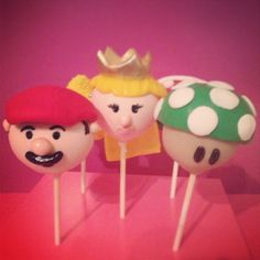 "Super Mario Bross cake pops  by""Erase una vez"""