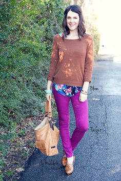 magenta and brown