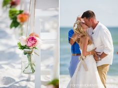 Destination Wedding at Wind Mark Beach Club Pool Wedding Photos in Mexico Beach by Florida Wedding Photographers, For The Moment Photography