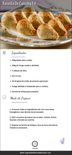 Vc gosta de coxinha e naonpode comer por que precisa emagrecer?Fitness Food - Live Healthier, Get Fitter: A Guide To Changing Your Life For The Better * You can find more details by visiting the image link.thus, should be avoided in exchange for these tip Healthy Snacks, Healthy Eating, Healthy Recipes, Healthy Fit, Menu Dieta, Light Recipes, Good Food, Food And Drink, Cooking Recipes