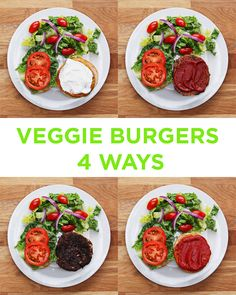 Veggie Burgers 4 Ways