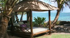Sweetwater Cabana Outdoor Furniture, Ultimate Daybeds for Outdoor Living.  Looks so inviting...