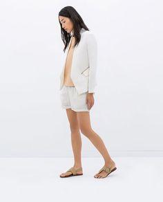 SOFT BLAZER WITH ZIPS-Jackets-WOMAN-SALE | ZARA United States