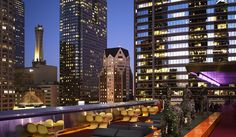The Standard Downtown LA, 550 South Flower at Sixth Street.  Great Location, Great Rooms, Amazing Rooftop Pool, Bar & Biergarten along with simply stunning views of the city and mountains beyond.