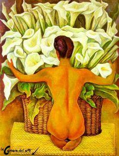 Desnudo con alcatraces | La cámara del arte