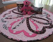 Valentines Heart Round Table Topper