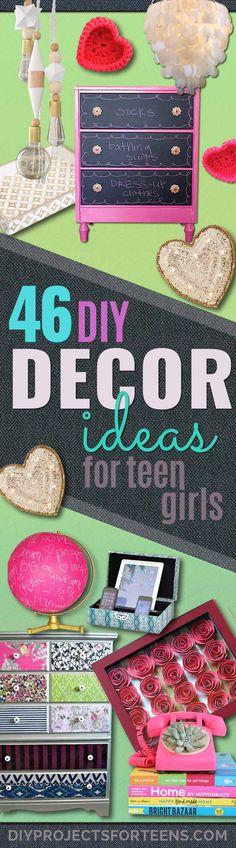 31 Teen Room Decor Ideas for Girls Diy teen room decor, Diy - diy teen bedroom ideas