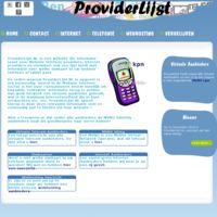 Provider (overzicht van virtuele mobiele telefoon aanbieders, internet providers en webhosters in Nederland. Met Virtuele aanbieders bespaart u vaak geld !