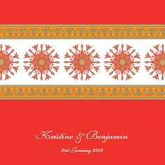 Indian Parama Square Invitation and Pocket in Electric Red - DreamDay Wedding Invitations