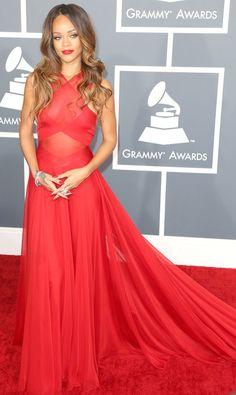Rihanna In Azzedine Alaia, 2013 Grammys