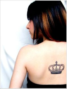 Large Crowns with Stones Tattoo