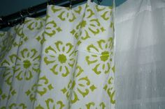 Stenciling curtains #stencil #curtains
