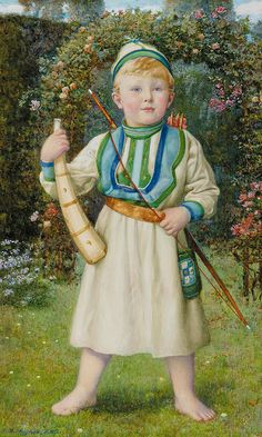 "Edward Robert Hughes - PreRaphaelism - ""A Viking, Portrait of Harold Norbury"""