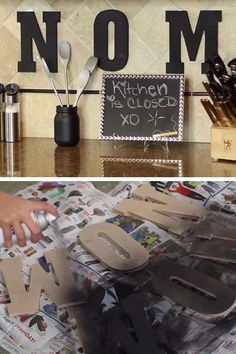 Chalkboard Paint Décor Set   DIY Kitchen Decorating Ideas on a Budget   DIY Home Decorating on a Budget