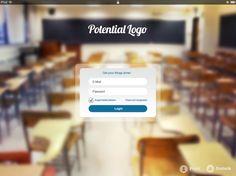 Login Design Draft #SmartForcePRO #e-learning #e-leading #ipad app