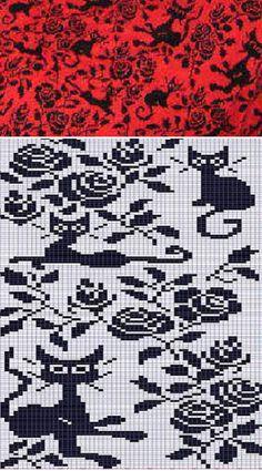 шикарный жаккардовый узор для вязания орнамента по схеме спицами