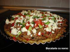 Tarta cu carne tocata - Bucataria cu noroc Noroc, Meatloaf, Baked Potato, Potatoes, Baking, Ethnic Recipes, Pie, Potato, Bakken