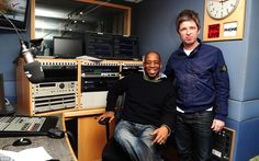 Here's Ian Wright Arsenal legend with rock star Noel Gallagher, a keen Manchester City fan, Ian Wright, Nostalgic Pictures, Noel Gallagher, Football Stuff, Manchester City, Arsenal, Fan, Rock, Retro